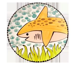 Huntsville Happy Shark Plate