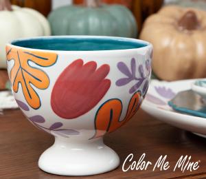 Huntsville Floral Pedestal Bowl