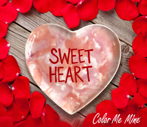 Huntsville Candy Heart Plate